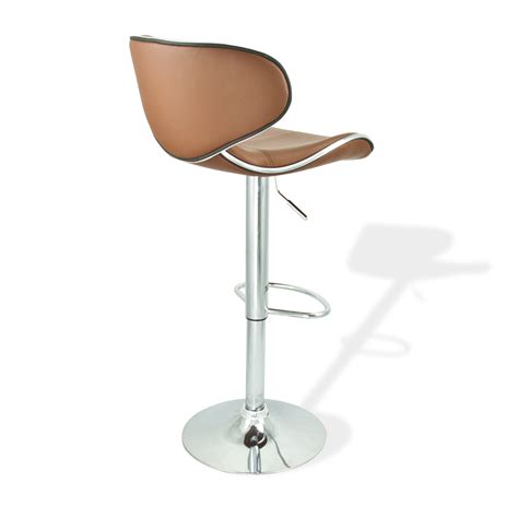 Modern Adjustable Bar Stools by 4 Swivel Mocha Bar Stool Pu Leather Modern
