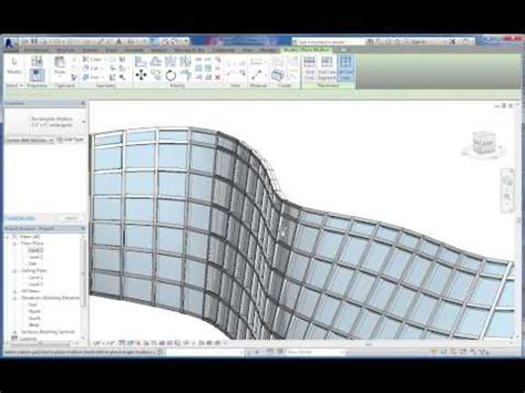 curtain wall software intro to massing and curved curtain wall systems in