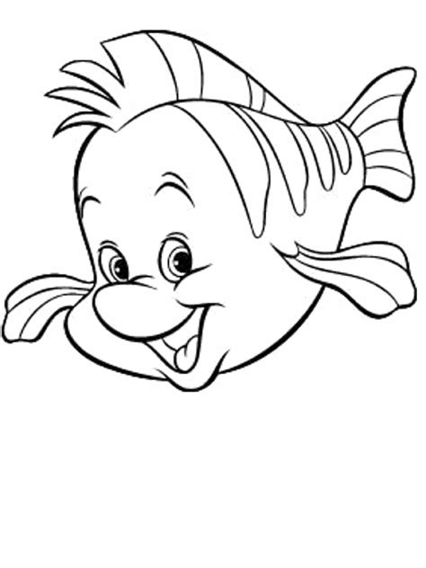 small fish template coloring home