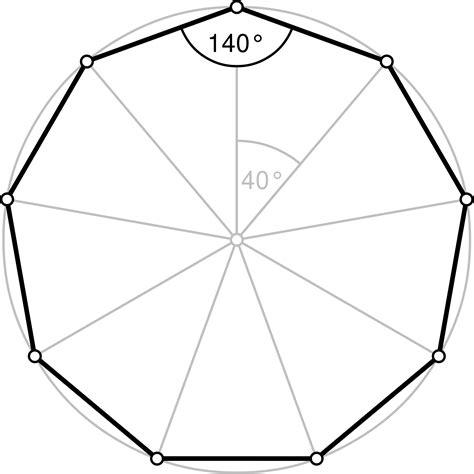 9 Sided Polygon Interior Angles nonagon