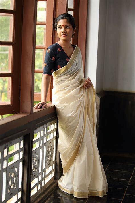 High Neck Blouse With Kerala Saree by Best Of Kerala Saree Blouse Patterns Saree Guide