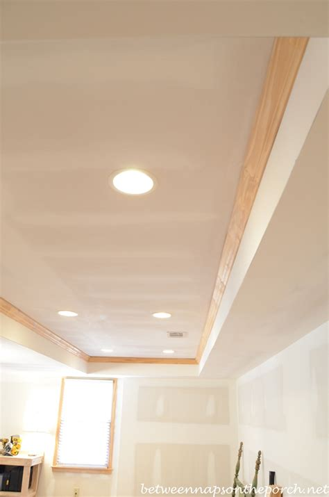 Recessed Lighting Basement Ceiling by A Workbench For The Basement