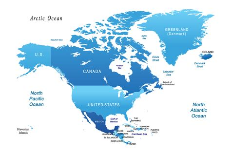 world map canada and usa