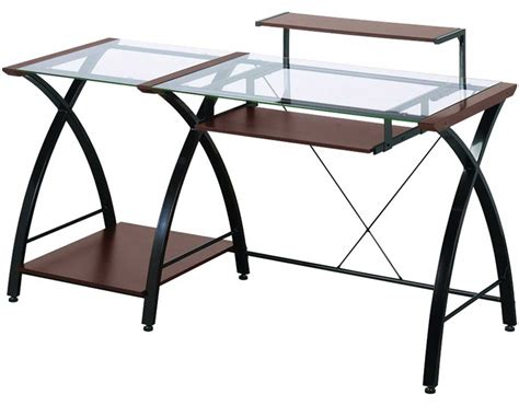 z line glass desk z line glass computer desk for home office