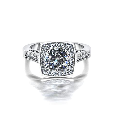 square halo engagement ring jewelry designs