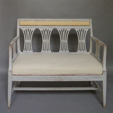 small sofa bench neoclassical sofa bench with wheat sheaf back cupboards