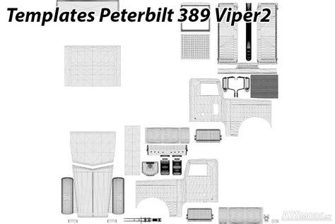 peterbilt  viper templates american truck simulator mods