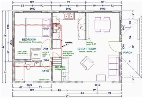cottage house plans with loft 20x30 cabin floor plans houses plans designs