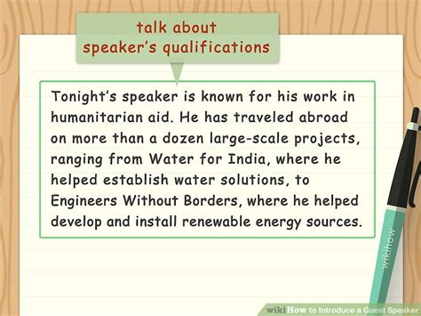 template for introducing a speaker how to write a speech to introduce a guest speaker