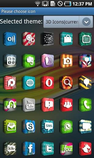 icon themes for android 3d icons go launcherex theme apk for android
