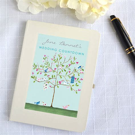 Wedding Notebook by Original Personalised Wedding Countdown Notebook Jpg