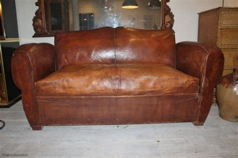 antique sofa bed a 1920 s leather sofa bed 282794 sellingantiques co uk