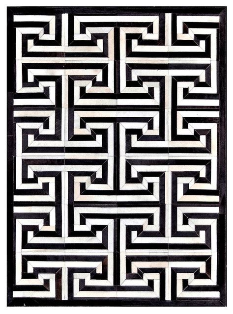 black and white pattern area rug madisons maze pattern black and white cowhide area rug