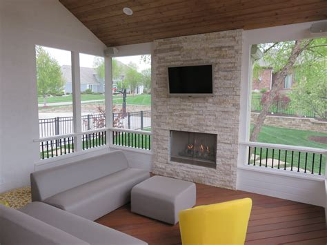 Porch Fireplace by Outdoor Fireplaces In Kansas City Overland Park Olathe