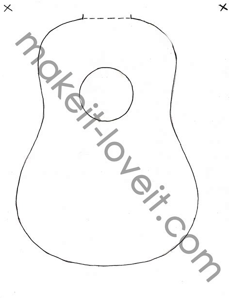printable guitar templates 4 best images of printable guitar template acoustic