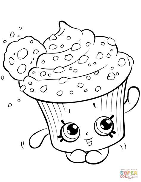 cupcake shopkins coloring pages printable 5 shopkins