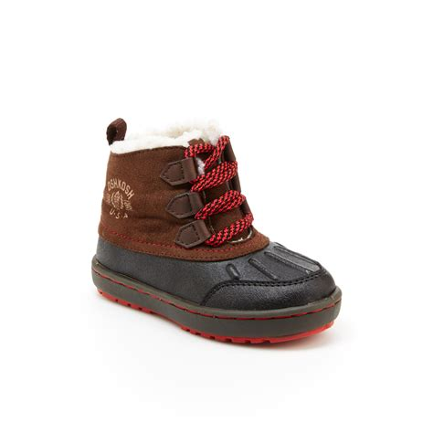 oshkosh toddler boy s harrison brown navy winter boot
