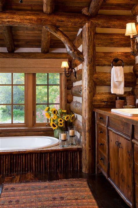 Log Cabin Bathrooms 360 Ranch Guest Cabin Rustic Bathroom Other Metro