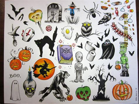halloween tattoo specials berols flash special copperfoxtattoocompany