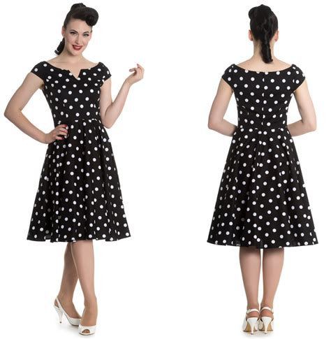 kleid gepunktet nicky dress rock n roll kleid rockabilly kleid gepunktet
