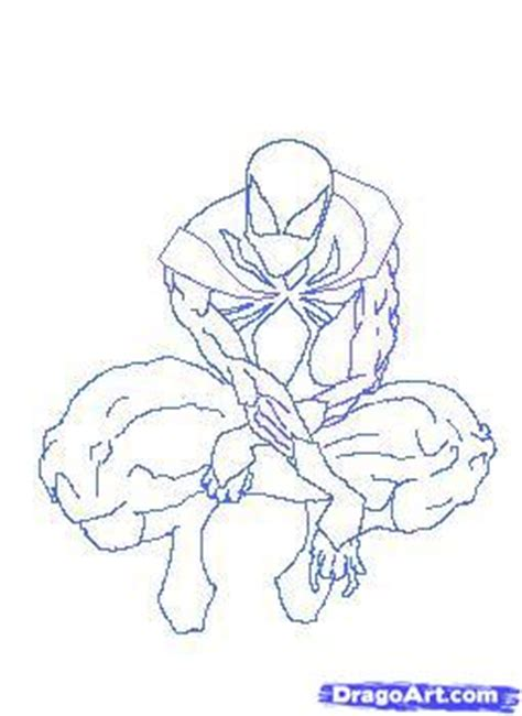 how to draw the iron spider man step by step marvel
