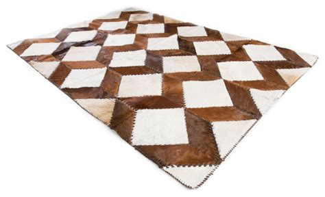 Luxury Cowhide Rugs Luxury Square Chevron Cowhide Patchwork Area Rug