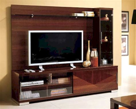 modern italian entertainment center in walnut finish 33e11 - Modern Tv Entertainment Center