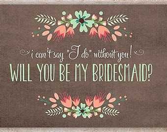 Will You Be My Best Card Template by The Autumn Wedding Will You Be My Of Honour