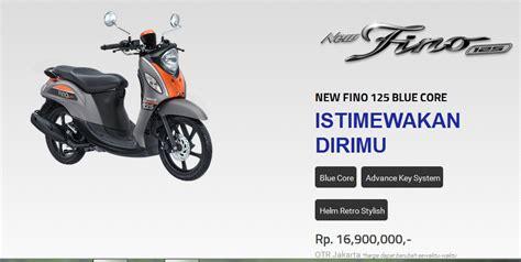 Yamaha New Fino Premium 125 Bandung Sumedang Cimahi yamaha fino 125 2017 harga warungasep
