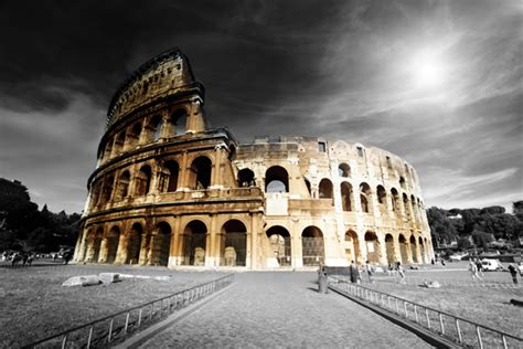 Roma Black color on black and white canvas
