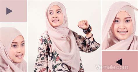 Cara Pake Jilbab Cara Pake Cara Memakai Jilbab Segi Empat Modis
