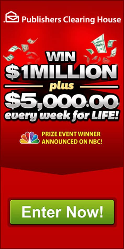 Pch Coupons - pch win 1million 5000 every week for life