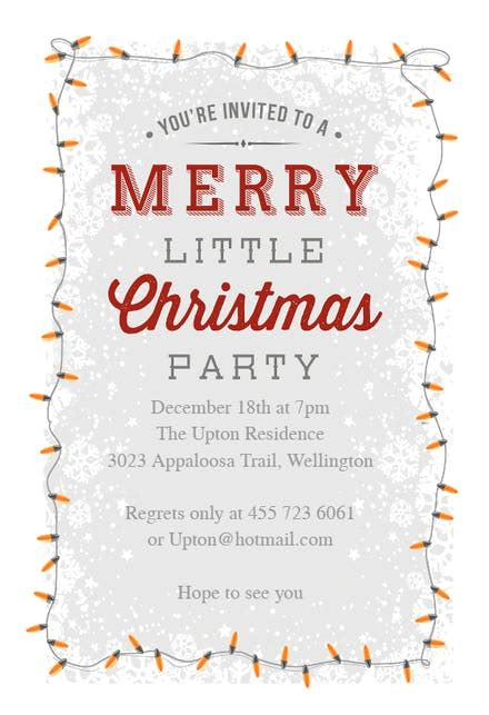 merry  party christmas invitation template   island