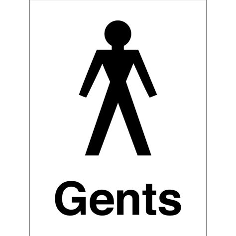 gents toilet signs from key signs uk