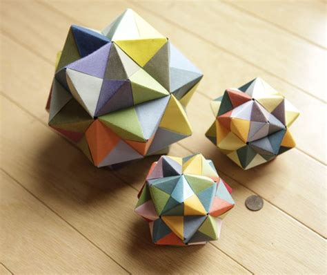 How To Make Geometric Origami - modular origami icosahedron octahedron cube 171 math craft