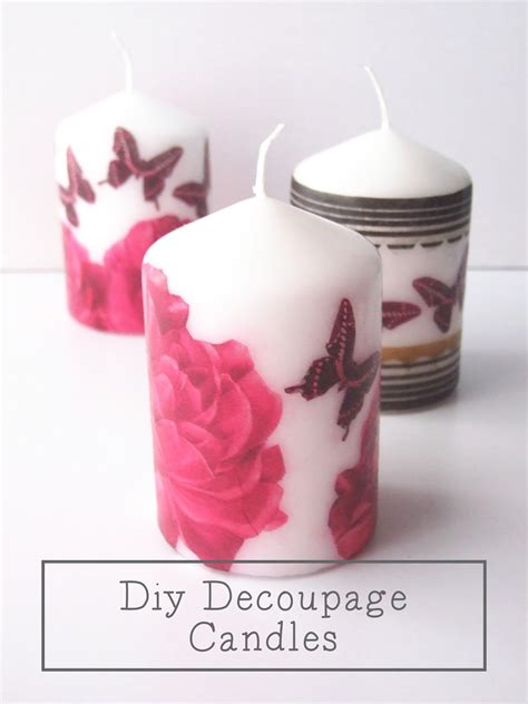 decoupage candele diy decoupage candles gathering