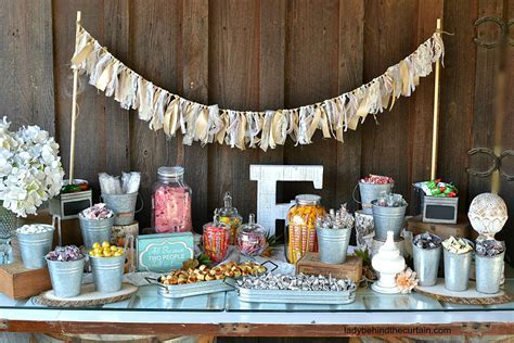 Rustic Wedding Candy Buffet