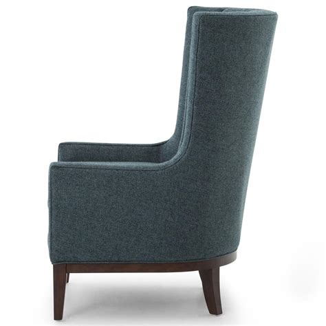 classic wing armchair vida modern classic dark peacock teal fabric wood wing
