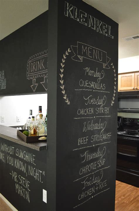 kitchen chalkboard menu for our next dinner the with