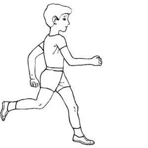 sportsman running coloring sheet