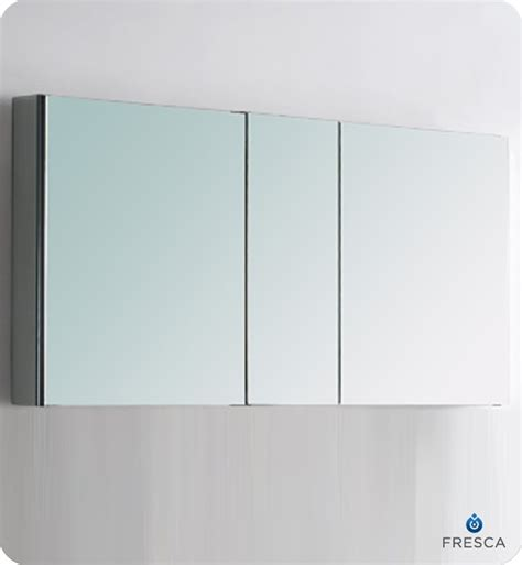 bathroom mirrored medicine cabinets 50 quot fresca fmc8013 wide bathroom medicine cabinet w