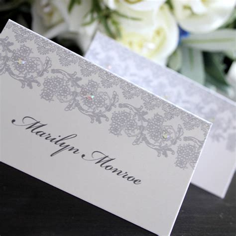 wedding table place cards wedding place card name card by 2by2 creative