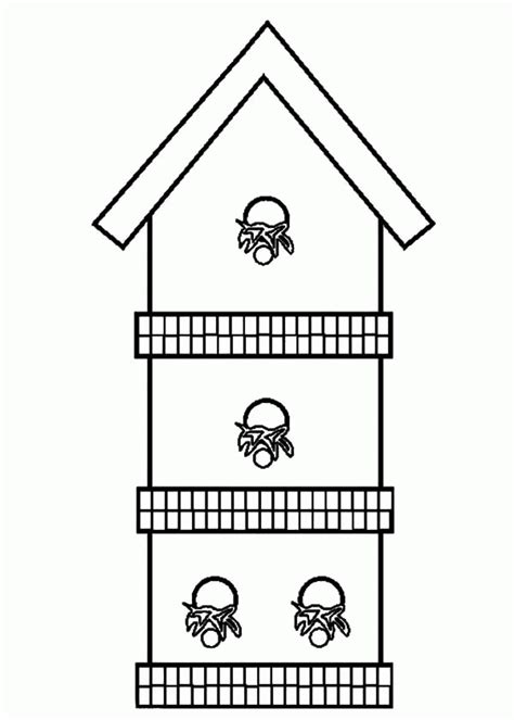 free coloring pages bird houses birdhouse coloring page coloring home