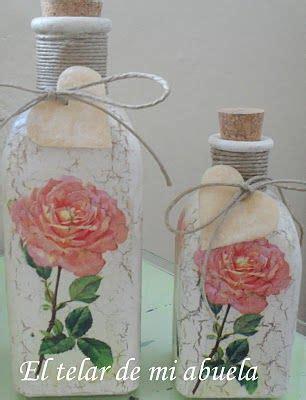 tutorial decoupage en vidrio decoupage y craquelado en frascos de vidrio frascos