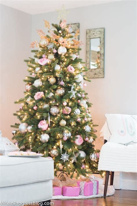 pink christmas tree decor pink is the new red this season