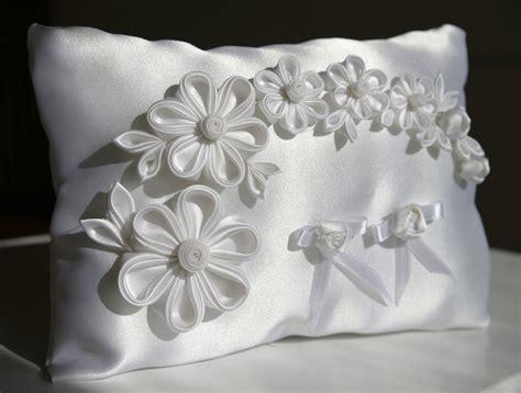 cuscini portafedi cuscino portafedi feste matrimonio di kanzashi di
