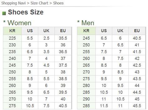 h m shoes size chart clothing and shoe sizes 171 seoul