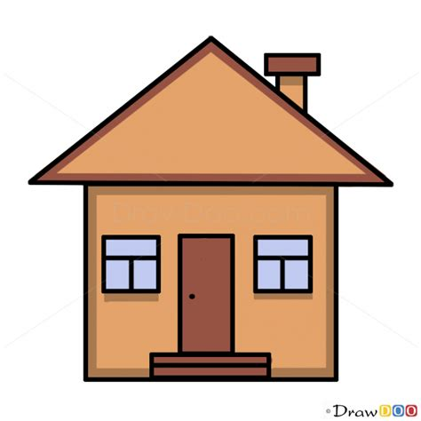 house draw drawing simple home