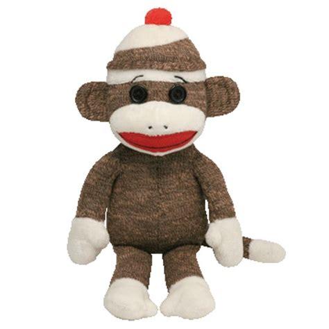 sock monkey ty beanie babies quot socks quot the sock monkey beanie babies