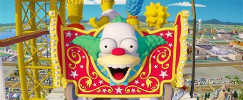 theme park owned by a television clown on the simpsons woo hoo simpsons krusty gets his own roller coasters wired